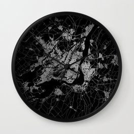 montreal map Wall Clock