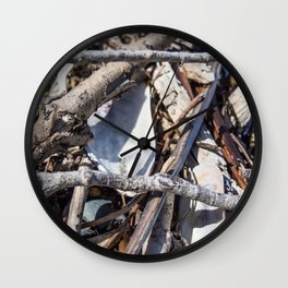 Pile Of Small Twigs Wall Clock
