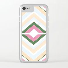 Mod stripes in Sorbet Clear iPhone Case