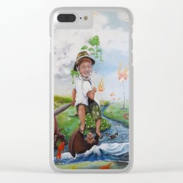 Murrayly, Murrayly, Murrayly, Murrayly as in Bill Murray and Row, Row, Row your boat cdeeryart Clear iPhone Case