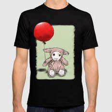 My first balloon Black MEDIUM Mens Fitted Tee