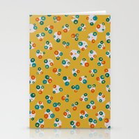yellow pattern Stationery Cards featuring Yellow by Alisa Galitsyna
