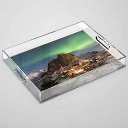 Northern Lights Over Hamnøy Acrylic Tray