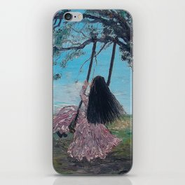 Swinging and Singing  under the Big Old Tree iPhone Skin