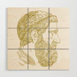 Holy Beard Wood Wall Art
