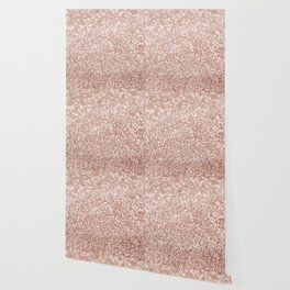 Sparkling Rose Gold Blush Glitter #2 #shiny #decor #art #society6 Wallpaper