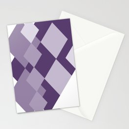 Purple Lozenges Stationery Cards