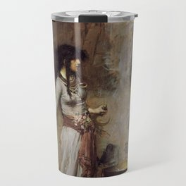 The Magic Circle, John William Waterhouse Travel Mug