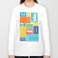 cassette Long Sleeve T-shirts featuring Cassette Heaven by Scott - GameRiot