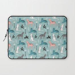 Tigers Animals Prints patterns Laptop Sleeve