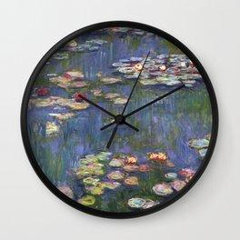 1916-Claude Monet-Waterlilies-200 x 200 Wall Clock