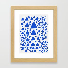 Blue Triangles Abstract Minimal Art Framed Art Print