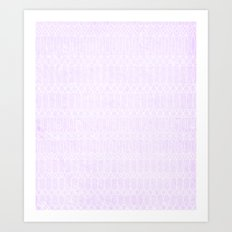 Purple Circles Art Print