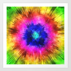 Starburst Tie Dye Watercolor Art Print