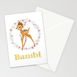 Bambi - Gold Stationery Cards