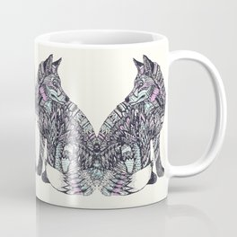 psychedelic fox Coffee Mug