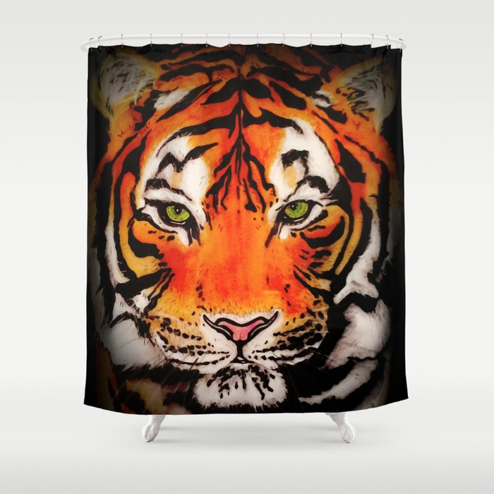 Tiger in the Shadows Shower Curtain