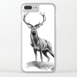All Muscle - Red Deer Stag Clear iPhone Case