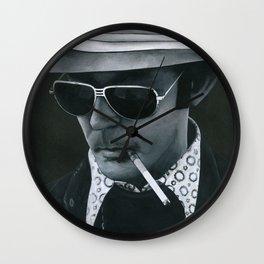Hunter S. Thompson on vinyl record print Wall Clock