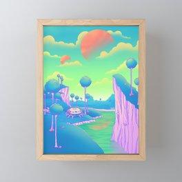 Planet Namek Framed Mini Art Print