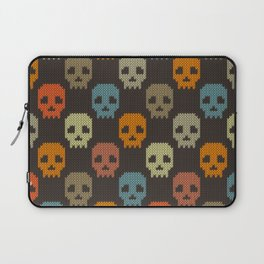 Knitted skull pattern - colorful Laptop Sleeve
