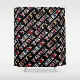 New York City (typography diagonal) Shower Curtain