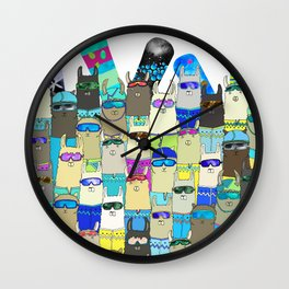 Snow? No Prob-Llama Alpaca My Board Wall Clock