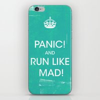 panic at the disco iPhone & iPod Skins featuring PANIC by Vin Zzep
