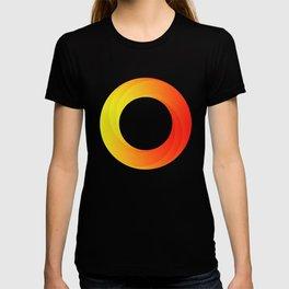 circle on fire T-shirt