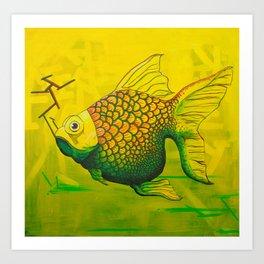 Bruce - GONZA Fish Art Print