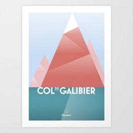 Col du Galibier / Cycling Art Print