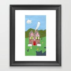 Cat House Framed Art Print