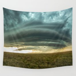 Filling the Void - Layered Storm in Western Nebraska Wall Tapestry
