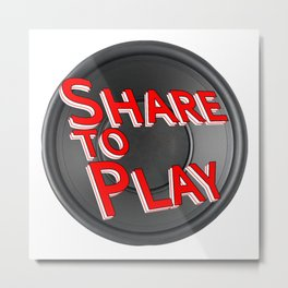 Official Logo for Share to Play Metal Print