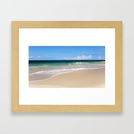 The Ocean's Lacy Fringe - Version 3 - Tropical Horizons Series Framed Art Print