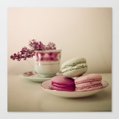 Lilac and Macaroons Canvas Print