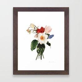 Spring Flowers Bouquet Framed Art Print