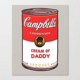 Cream Of Daddy Canvas Print