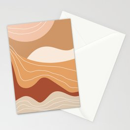 Abstract Desert Stationery Cards