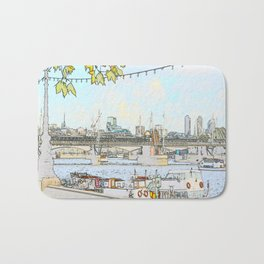 London River Scene Bath Mat