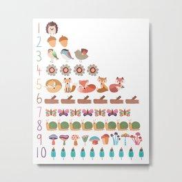 numbers 1 - 10 Metal Print