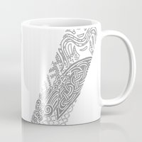 vikings Mugs featuring Vikings by Fiorella Modolo