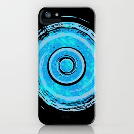 Teal Watercolor Spiral iPhone Case