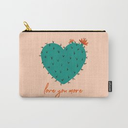 Love You More Succulent Carry-All Pouch