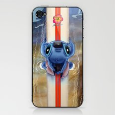 Waiting for the perfect wave...Stitch..^^ iPhone & iPod Skin