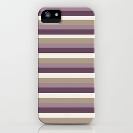 Stripes in Magenta, Lavender and Cream iPhone Case