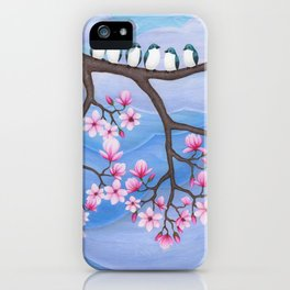 tree swallows & magnolia iPhone Case