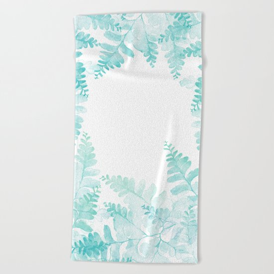 Ferns Jungle Beach Towel