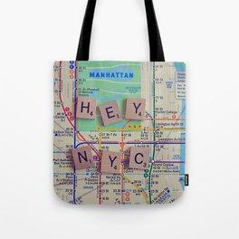 New York City, NYC Map, Subway, Travel Tote Bag