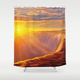 Sunlight waterfall Shower Curtain